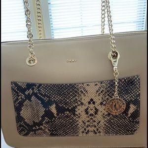 DKNY snakeskin handbag used once!